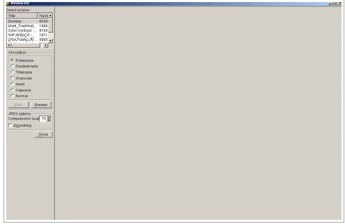 Select window(List) 활용한 색에 무관한 인식 검사 방법 화면2