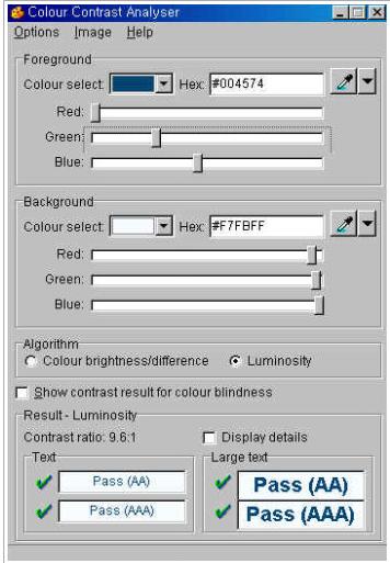 색깔 선택 (color slider 활용)툴 활용 화면