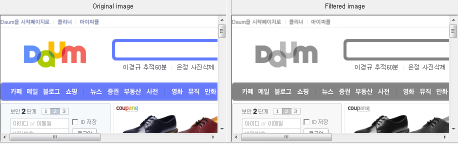 ColorDoctor의 Browser 화면