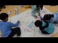 동그라미도서관 초등미술시간 -공동그림, 몸그림자표현