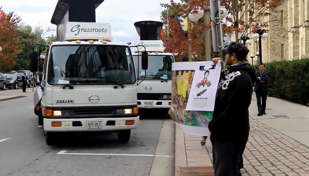 박 대통령 순방에 교민들 시위