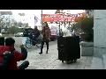 14.02.28. 지민주 '놈들의 시계는 결코 우리를 기다려주지 않는다' 공연 영상. 학습지노조 재능교육 단체협약 원상회복 쟁취 결의대회