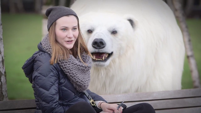 사람이 만든 고퀄리티 북극곰