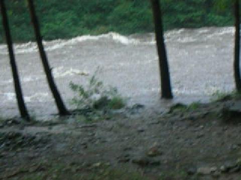 태풍 할룽 영향을 받은 강원도