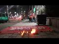 15.04.09. 이동환 공연. 아직 끝나지않은 재능교육 투쟁 승리를 위한 촛불기도회 (촬영 최건희)