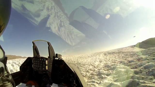 F16 전투기에서 바라본 풍경