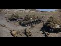 패튼 (1970) 영화속 카세린 협곡 전투의 M48 전차와 M41 전차- Patton (1970) Movie in Battle of Kasserine Pass M48 Patton Tank & M41 Tank