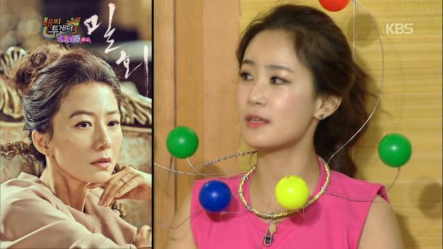 김지민, 김희애와의 에피소드