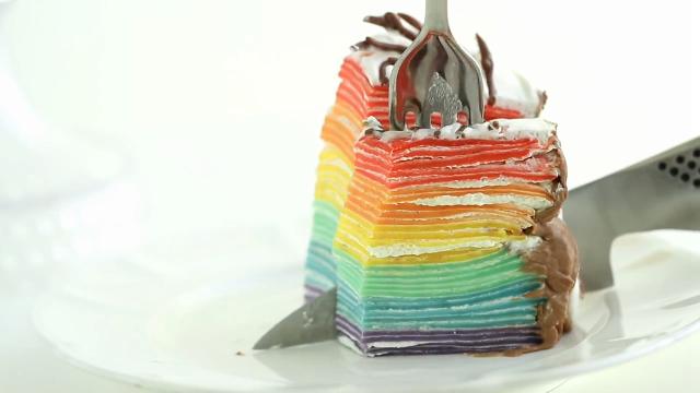 알록달록 무지개 케이크 만들기