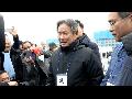 혹한 추위 속에 천막무무관 체험에 들어간 이기흥 대한체육회장