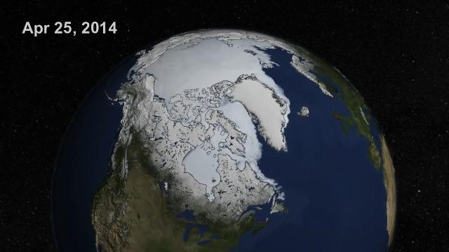 나사가 공개한 북극 빙하 영상