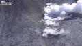 일본 온타케산 분화 장면