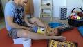 다운증후군 아기와 아빠의 아침