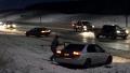 빙판길에 아수라장이 된 도로