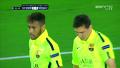 전반 11분 바르셀로나 메시 2분만에 환상적인 동점골