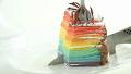 화려한 무지개 케이크 만들기