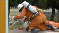 일본 소방관의 쩌는 로프 스킬