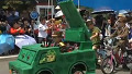 북한 어린이날 탱크 타고 유격