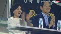 삼성 응원하는 이재용 홍라희
