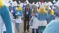 2천 명이 넘는 스머프 축제 현장