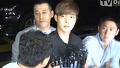 김현중, 경찰서 출두한 모습