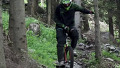 외발 산악 자전거의 다운힐