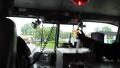 미국소방차 출동 장면 (실내모습)