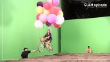 글램 MV 와이어 액션 촬영 현장