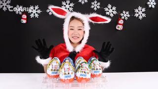 캐리의 크리스마스 거대 킨더 서프라이즈 에그 알 까기 [캐리와 장난감 친구들]