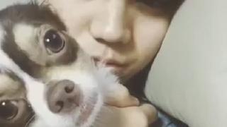 양요섭, 강아지와 함께
