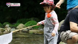 강태공이 된 사랑이, 처음 잡은 물고기에 '신기' [슈퍼맨이 돌아왔다] 20140824 KBS