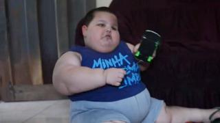 3살 꼬마아이 몸무게가 70kg