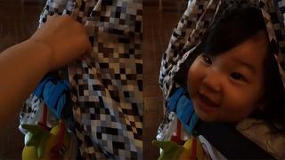10개월 아기의 귀여운 까꿍!