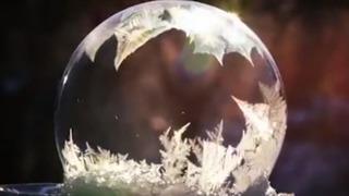 비눗방울 순간 얼어붙은 과정