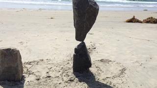 백사장 걷다가 발견한 돌