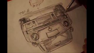 포르쉐 911 터보 드로잉 동영상