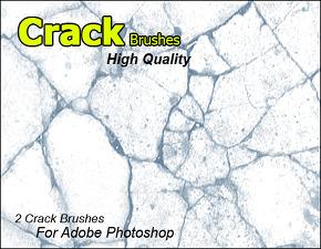 브러쉬 - 크랙,갈라진 틈 표현