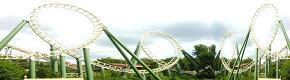 (HDRI) 녹색, 놀이 기구, 롤러 코스터