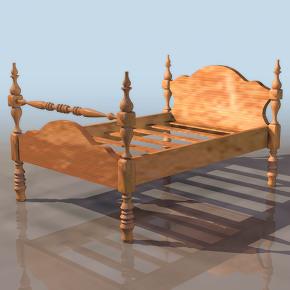 침대 모델링 소스