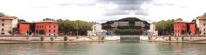 HDRI (흐린 날, 강물, 주황색, 도시)