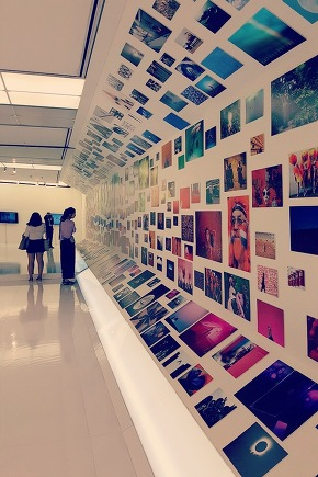At the photo exhibition