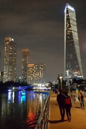 Night View in Songdo Park