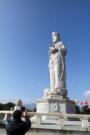 Statue in Naksansa (Korean Buddhist Temple complex)