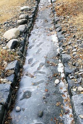 footprints remain