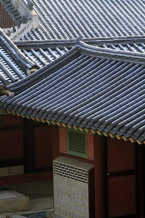 Pattern of Korean palace roof