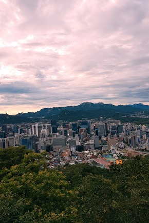 View of Seoul from the top of Namsan