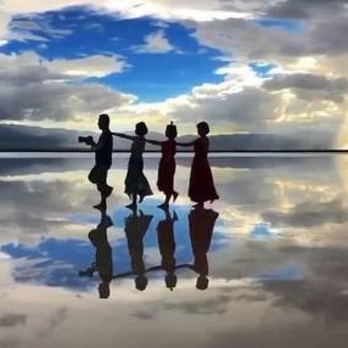 [중국] 천공의 거울이라고 불리는 관광지 『차카 염호』