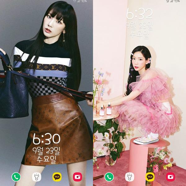 소녀시대 태연 W코리아 + 퍼스트룩 폰 배경화면 & 잠금화면 57장 (갤럭시 노트8, 노트9, S8, S9)