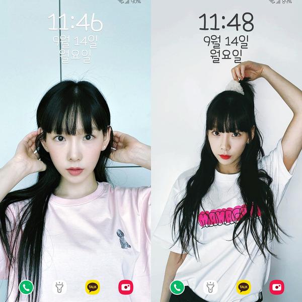 소녀시대 태연 인스타 폰 배경화면 & 잠금화면 36장 (갤럭시 노트8, 노트9, S8, S9)