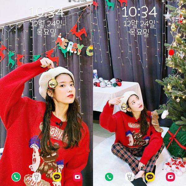 아이유(IU) 분노의 크리스마스 폰 배경화면 & 잠금화면 52장 (갤럭시 노트8, 노트9, S8, S9)